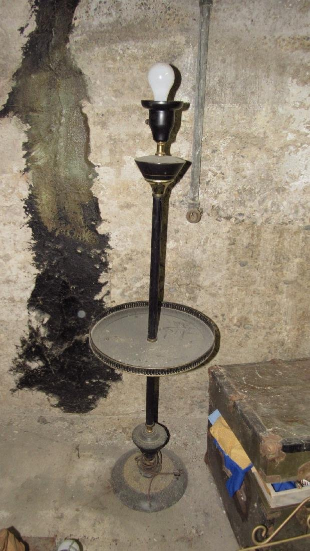 Trunk Mid Century Modern Lamp & Shelf - 2