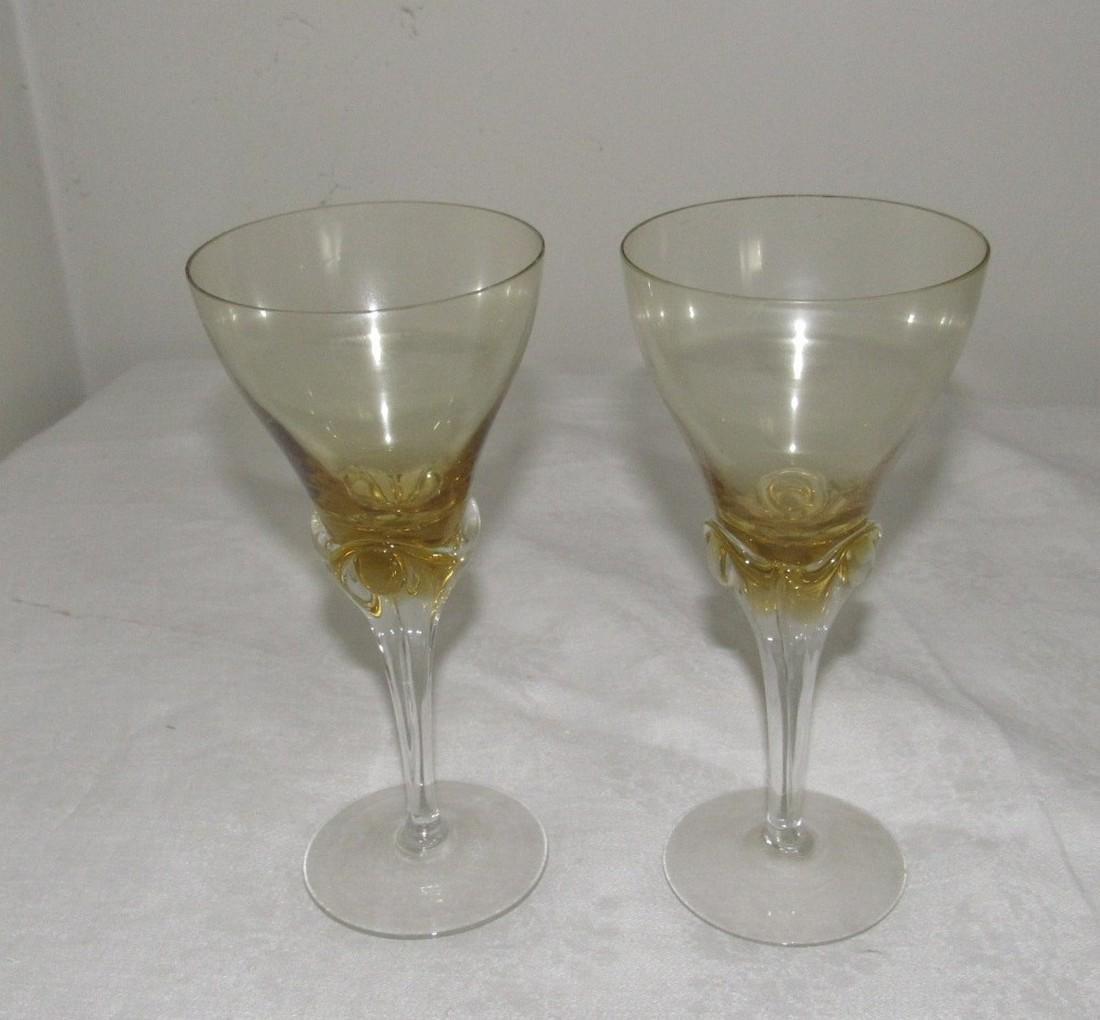 9 Antique Champagne / Wine Glasses - 2