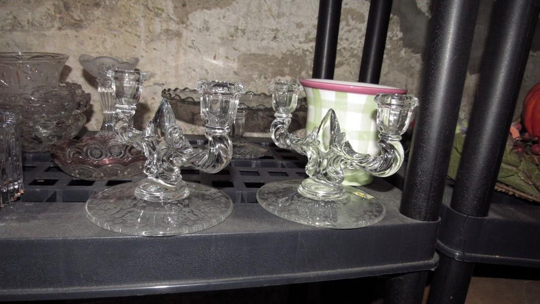 2 Shelves of Glassware - 2