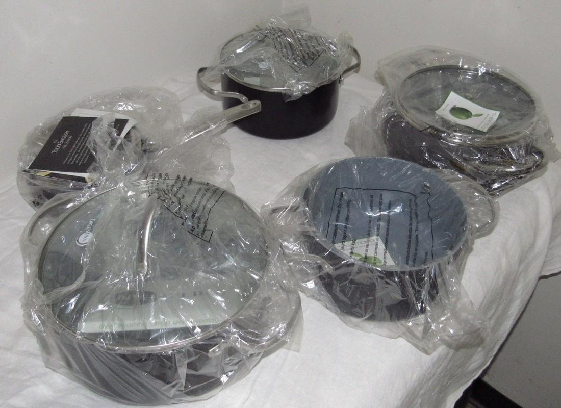 6 New Green Pans & Pots & Misc Contents - 2