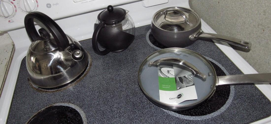 6 New Green Pans & Pots & Misc Contents - 4