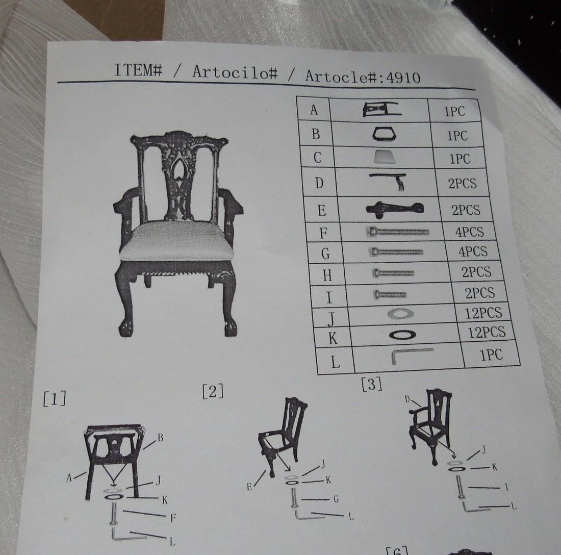 2 Carved Arm Chairs - 3