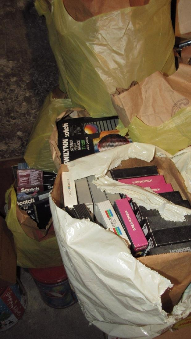 2 Large Piles of VHS Tapes - 4