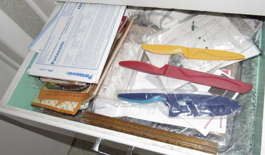 Contents of 3 Kitchen Drawers including Tools