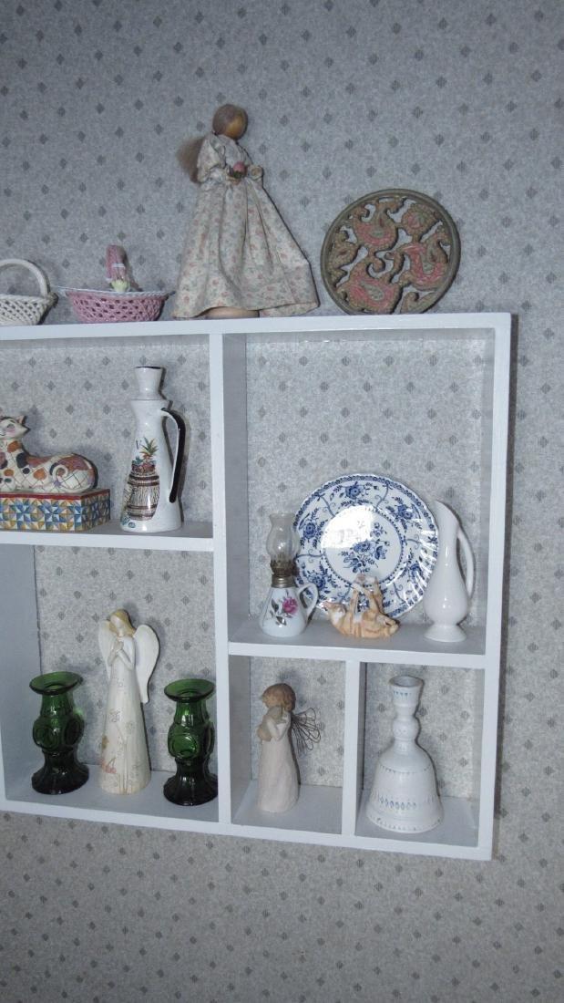 Contents of Shelf Knick Knacks Plates Glassware - 2