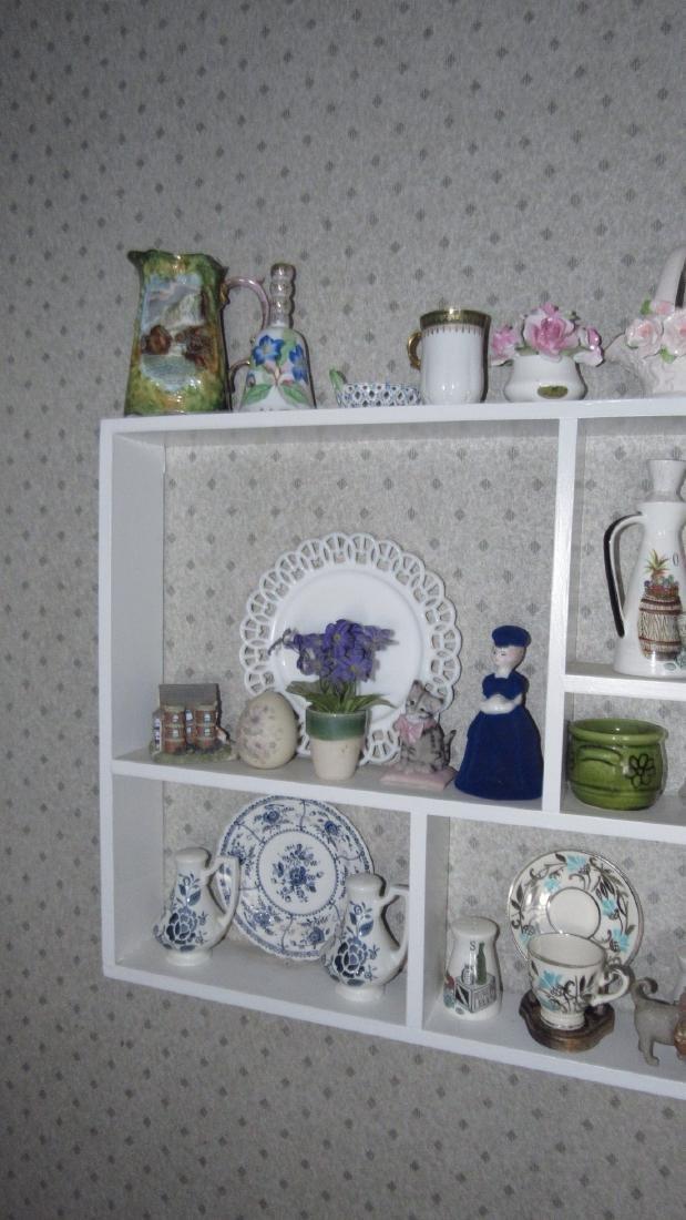 Contents of Shelf Knick Knacks Plates Glassware - 4