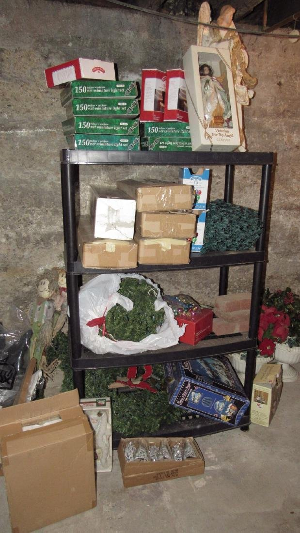 Large Lot of Misc Christmas Decorations