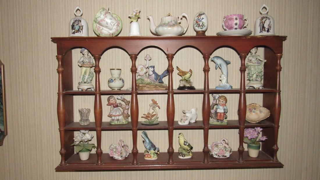 Knick Knacks Birds Bells Cups Saucers Shelf Lot - 2