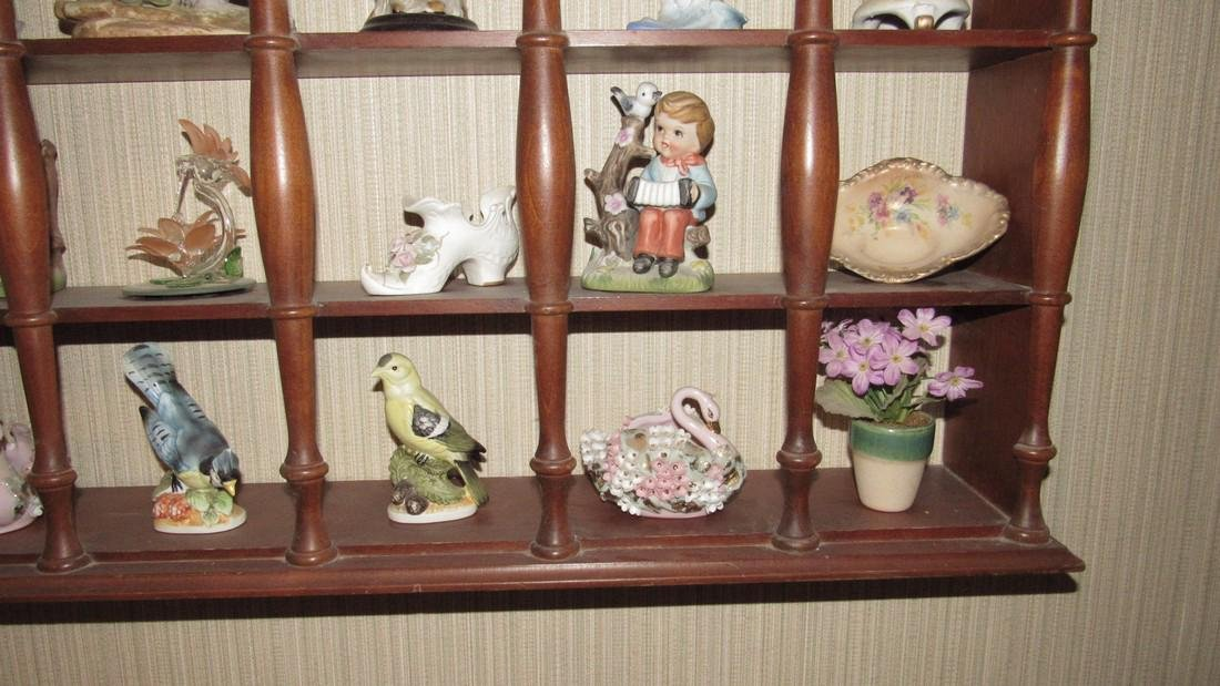 Knick Knacks Birds Bells Cups Saucers Shelf Lot - 5