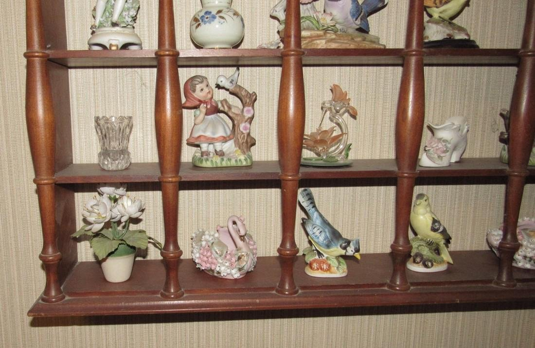Knick Knacks Birds Bells Cups Saucers Shelf Lot - 6