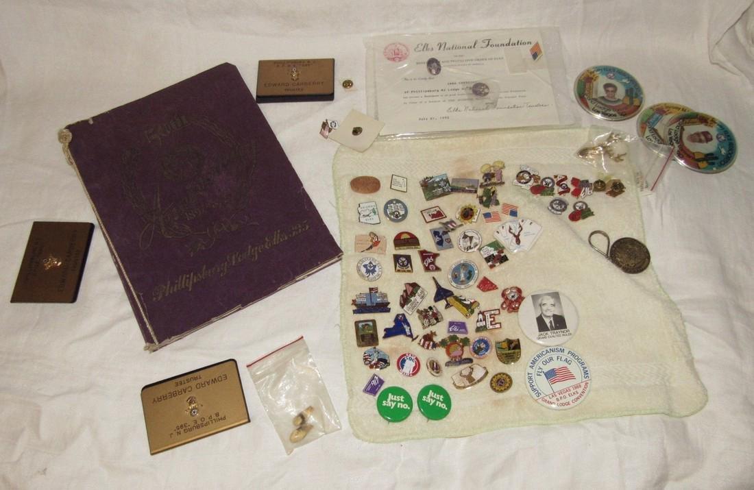 1947 Phillipsburg Elks Lodge Book Pins Veterans