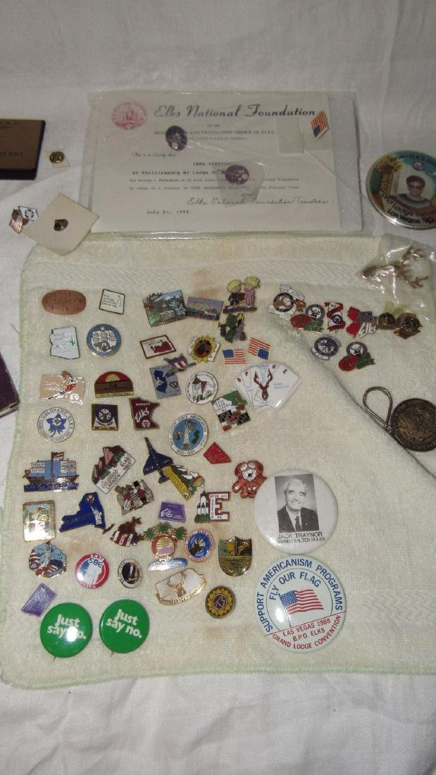1947 Phillipsburg Elks Lodge Book Pins Veterans - 3