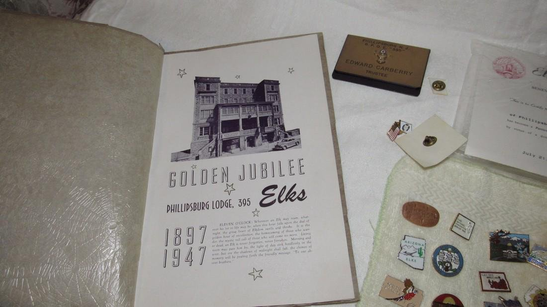 1947 Phillipsburg Elks Lodge Book Pins Veterans - 6