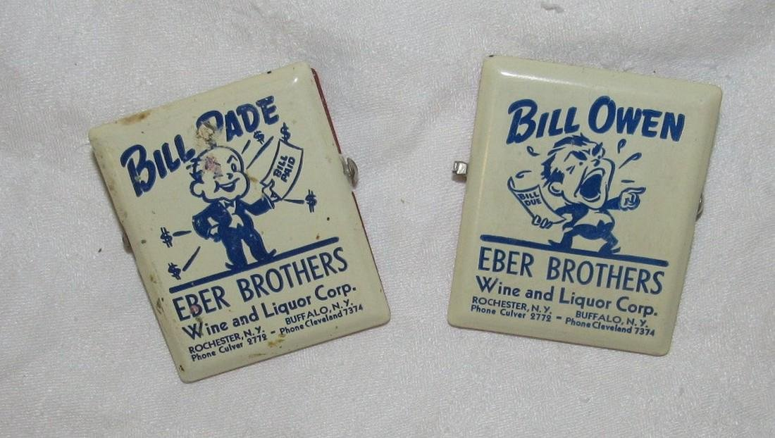 2 Eber Brothers Liquor Rochester NY Paper Clips