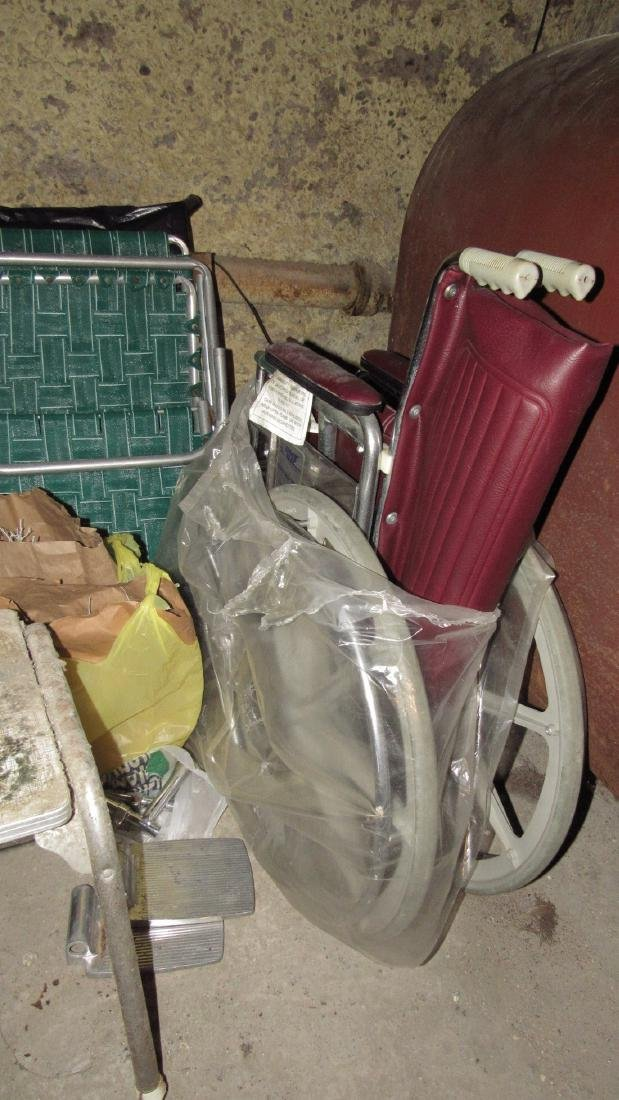Wheel Chair & Misc Contents Lot - 2