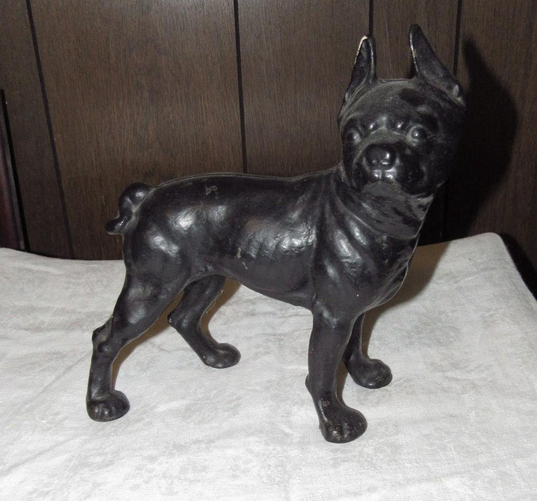 Antique Cast Iron Bull Dog Doorstop
