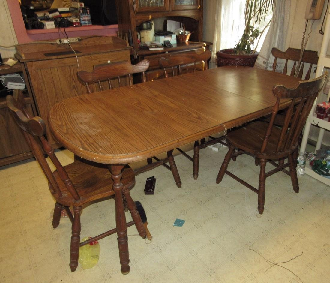 Kitchen Table 6 Chairs Hutch & Cabinets