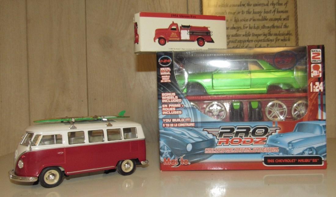 Maisto 1965 Chevy Malibu SS Pro Rodz & VW Bus