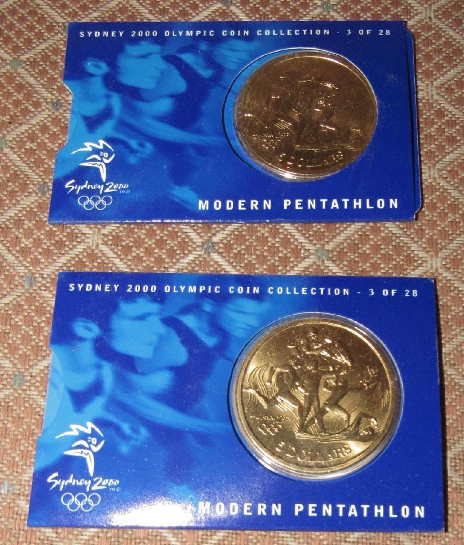 2 Modern Pentathlon $5 2000 Olympics Coins
