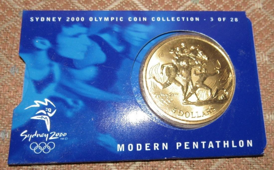 2 Modern Pentathlon $5 2000 Olympics Coins - 2