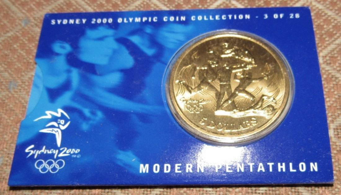 2 Modern Pentathlon $5 2000 Olympics Coins - 3
