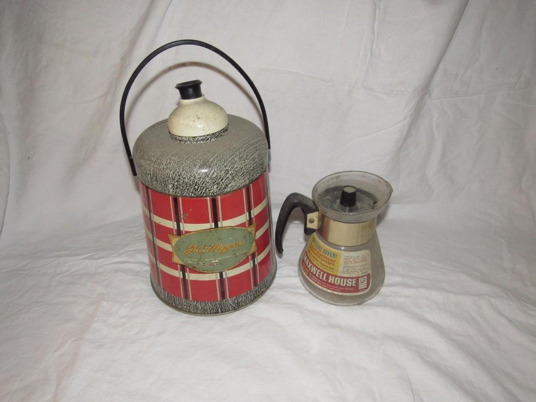 Maxwell House Coffee Pot & Higgins Cooler