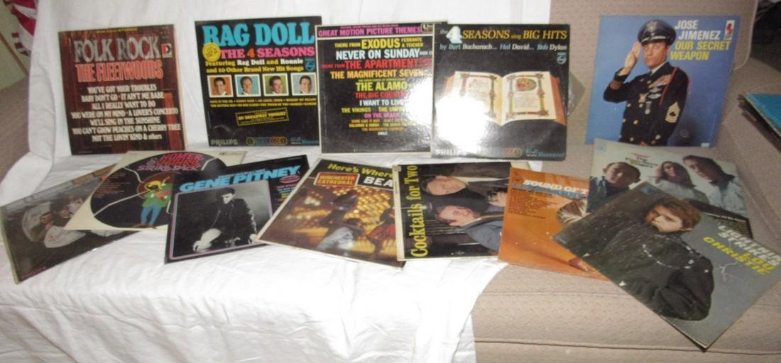 Lot of Records Including Beatles Love Songs