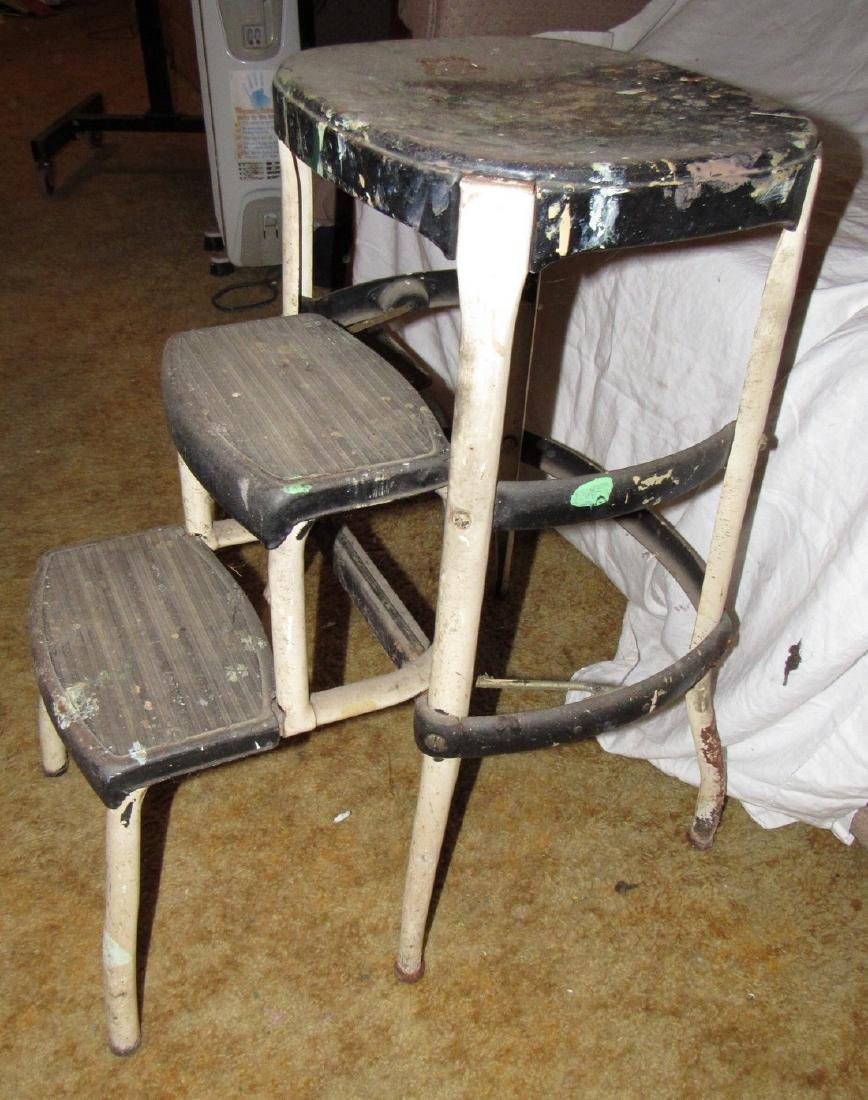 2 Vintage Metal Step Stools - 3