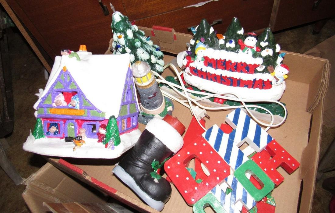 Vintage Ceramic Christmas Trees Houses - 2
