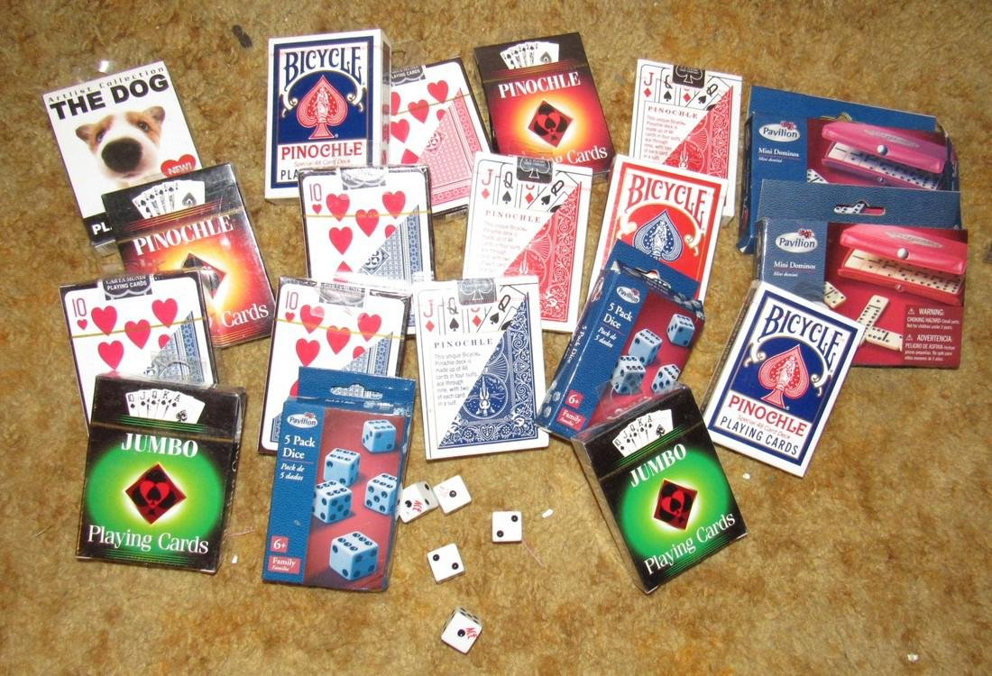 Lot of Playing Cards & Dice