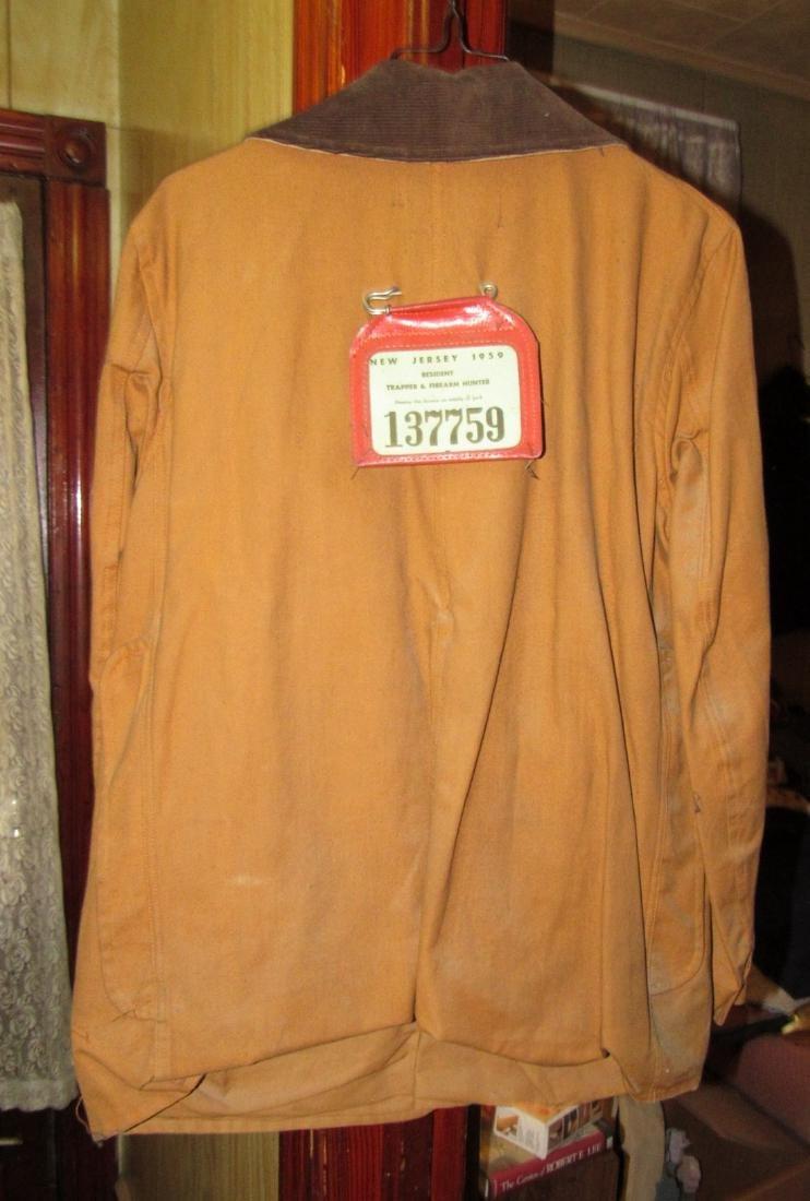 Hunting Jacket w/ 1959 NJ Hunting License