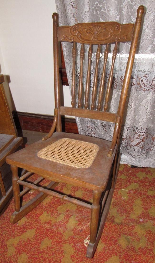 Oak Rocker w/ Cane Seat