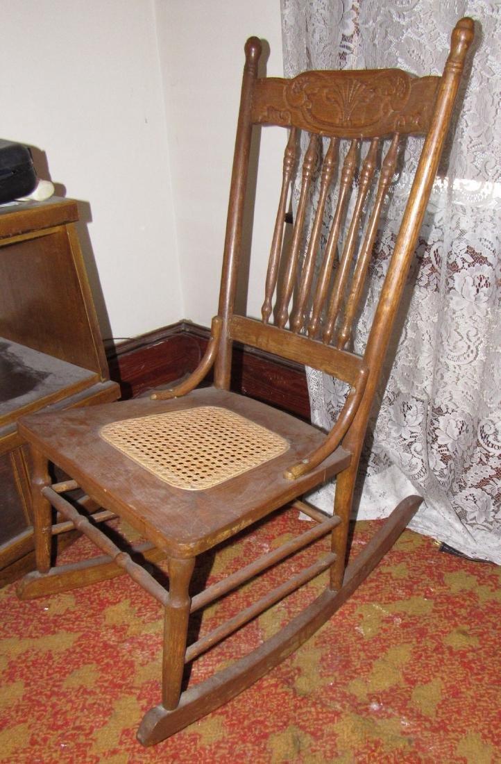Oak Rocker w/ Cane Seat - 2