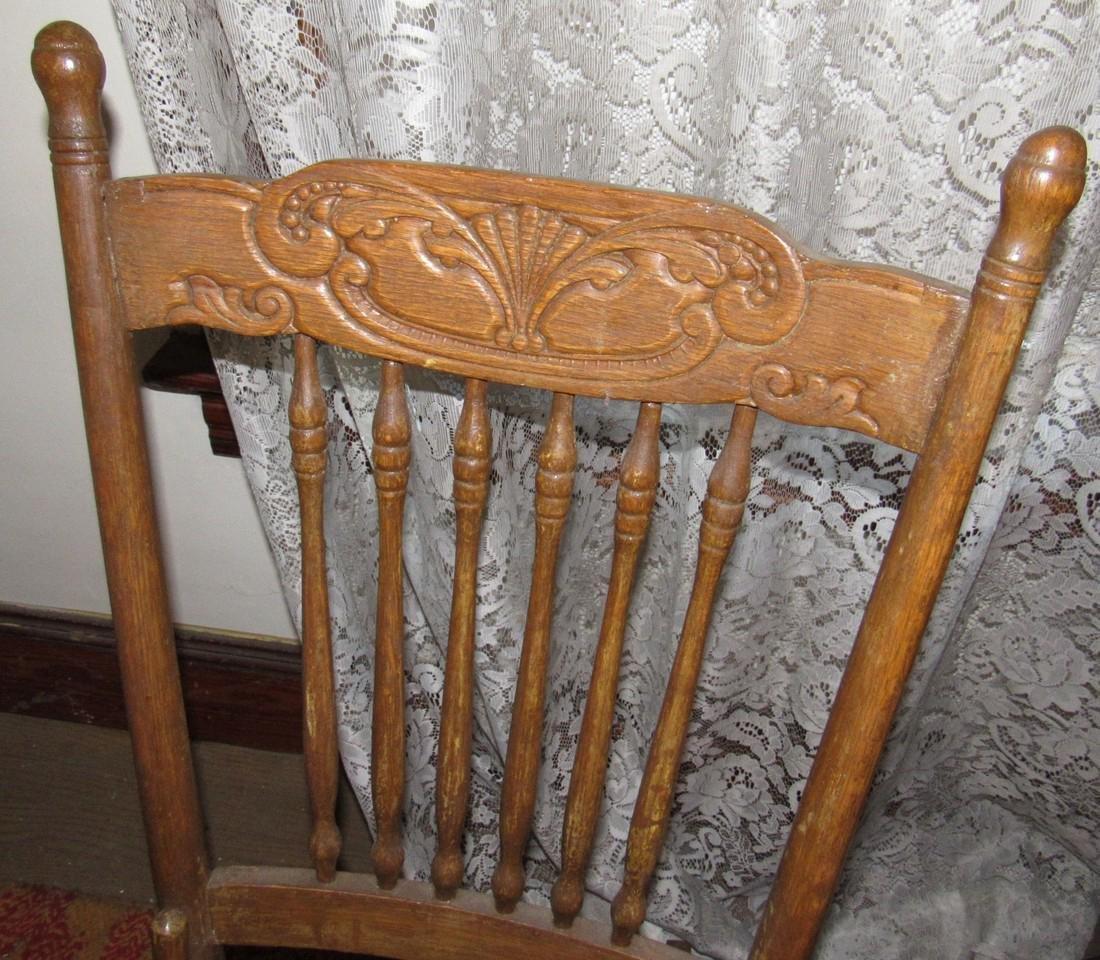 Oak Rocker w/ Cane Seat - 3
