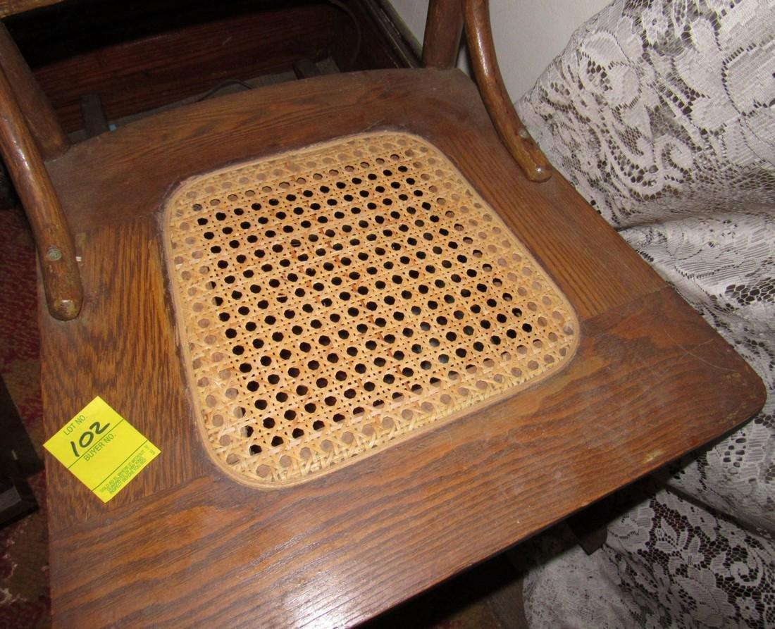 Oak Rocker w/ Cane Seat - 4