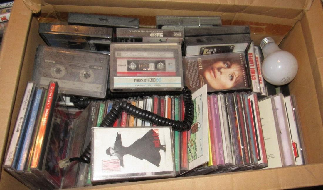 CD's Dvd's & Cassette Tapes