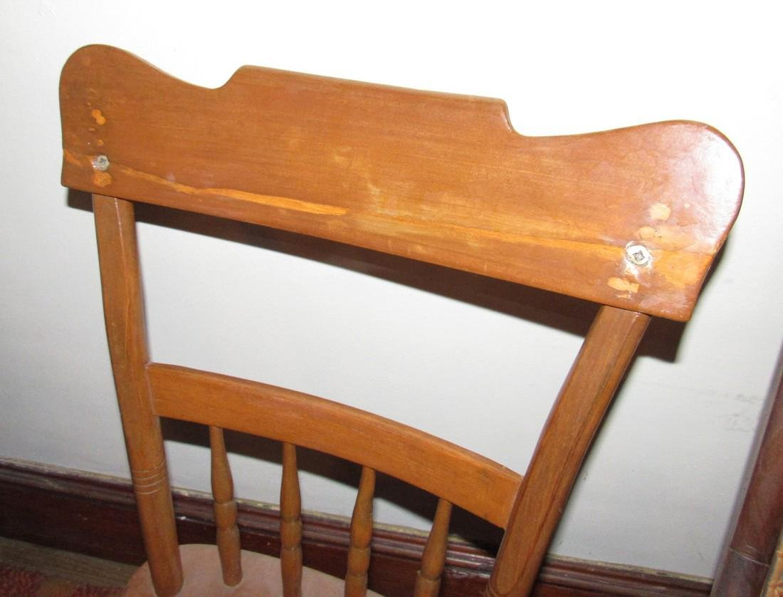 Cane Seat Rocker Clothes Tree & Chair - 2