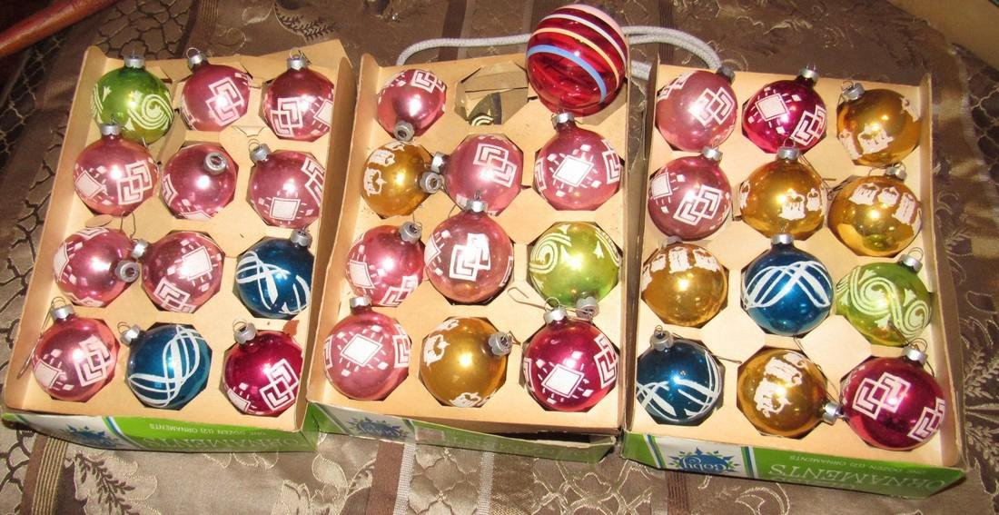 Lot of 35 Vintage Christmas Ornaments