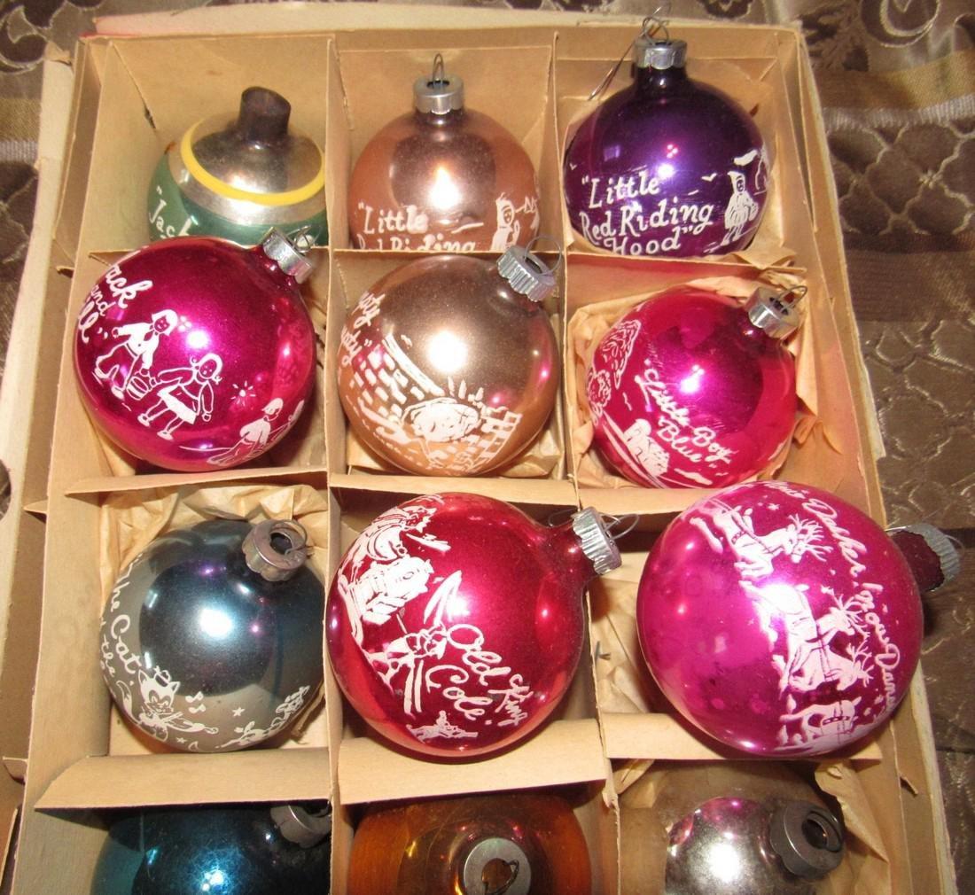 8 Vintage Nursery Rhyme Christmas Ornaments - 2