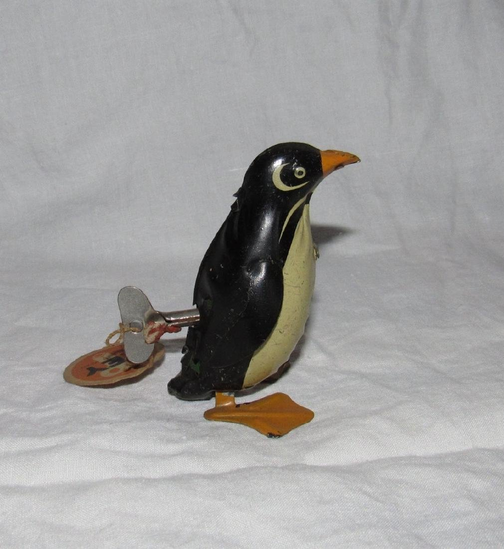 Tin Wind Up Penguin