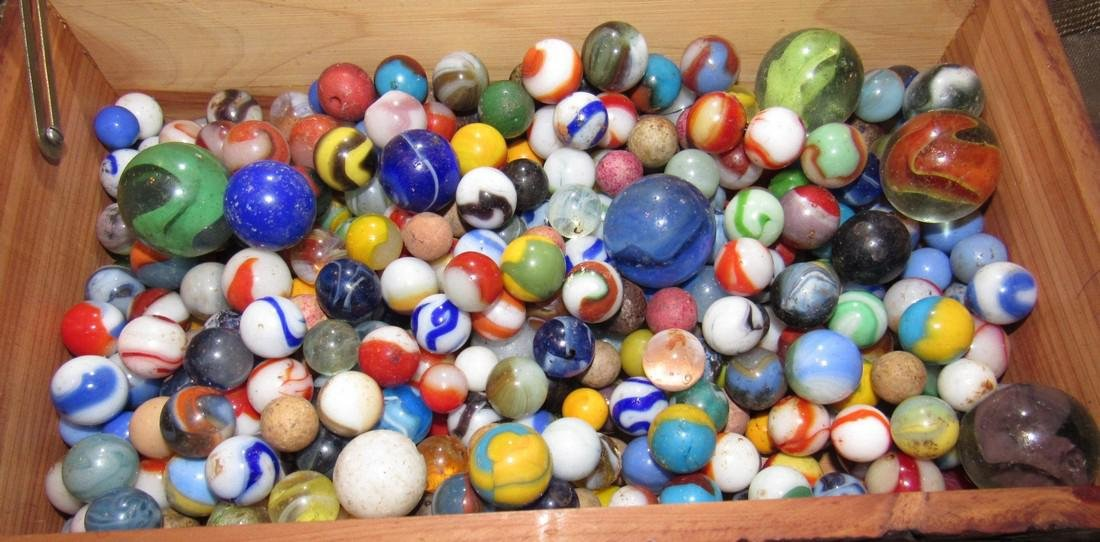 Lot of Antique / Vintage Marbles including Clay