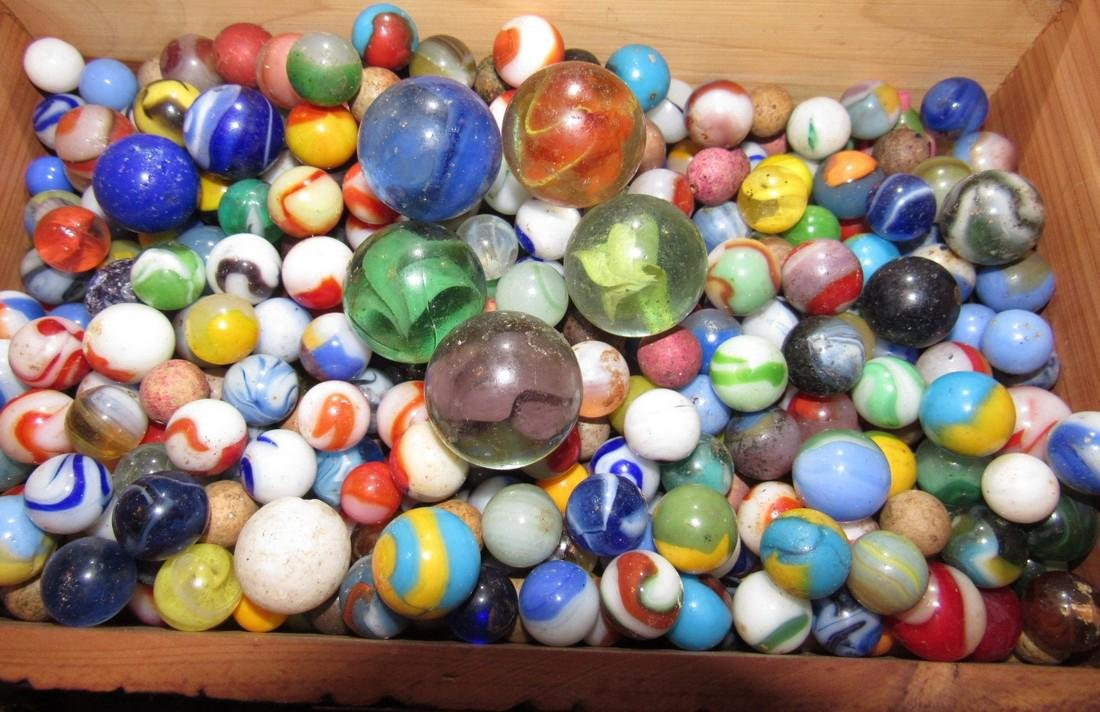 Lot of Antique / Vintage Marbles including Clay - 2