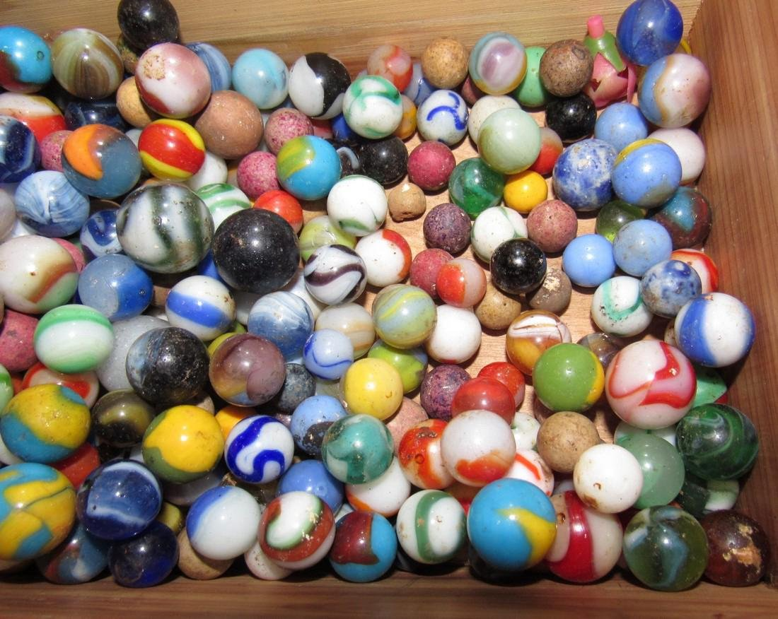 Lot of Antique / Vintage Marbles including Clay - 3