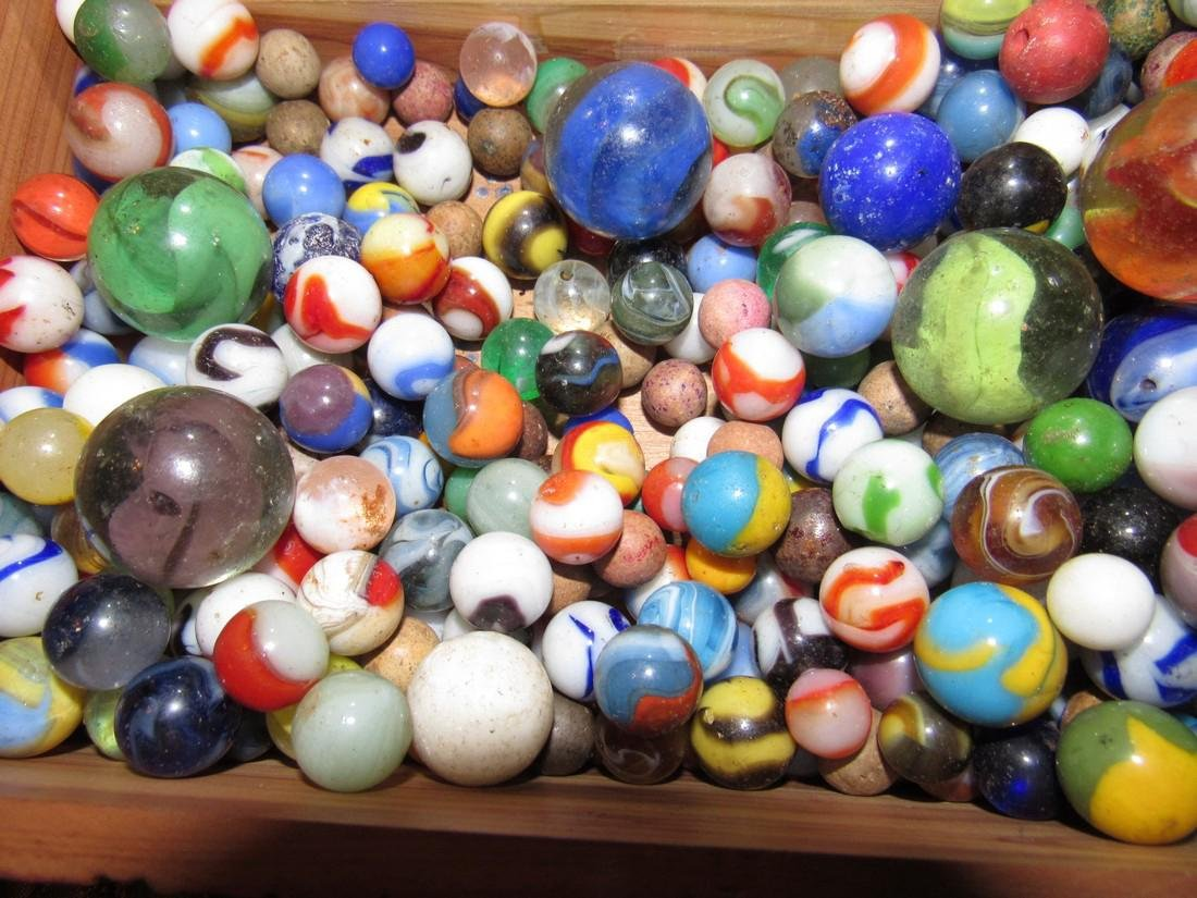 Lot of Antique / Vintage Marbles including Clay - 5