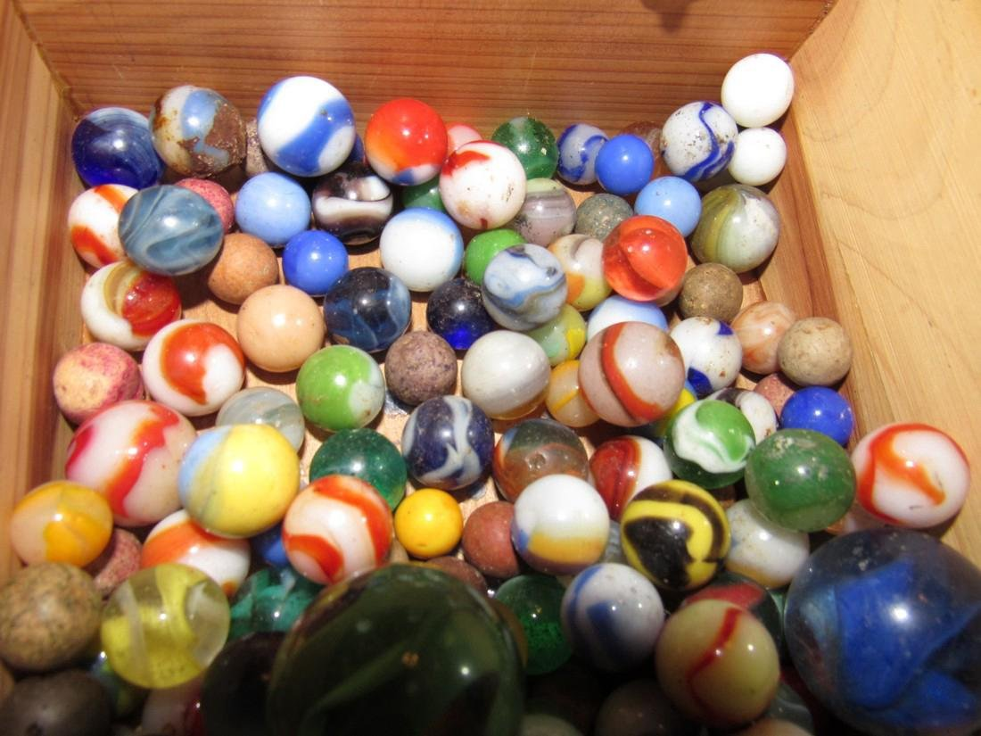 Lot of Antique / Vintage Marbles including Clay - 6