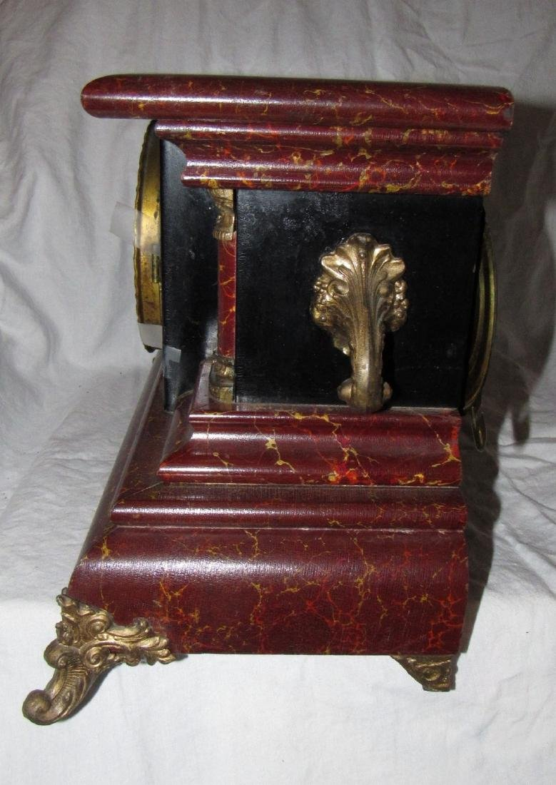Antique Gilbert Mantle Clock - 4