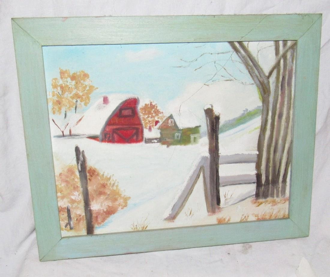 2 Oil Paintings On Board Mill and Country Barn Scene - 3