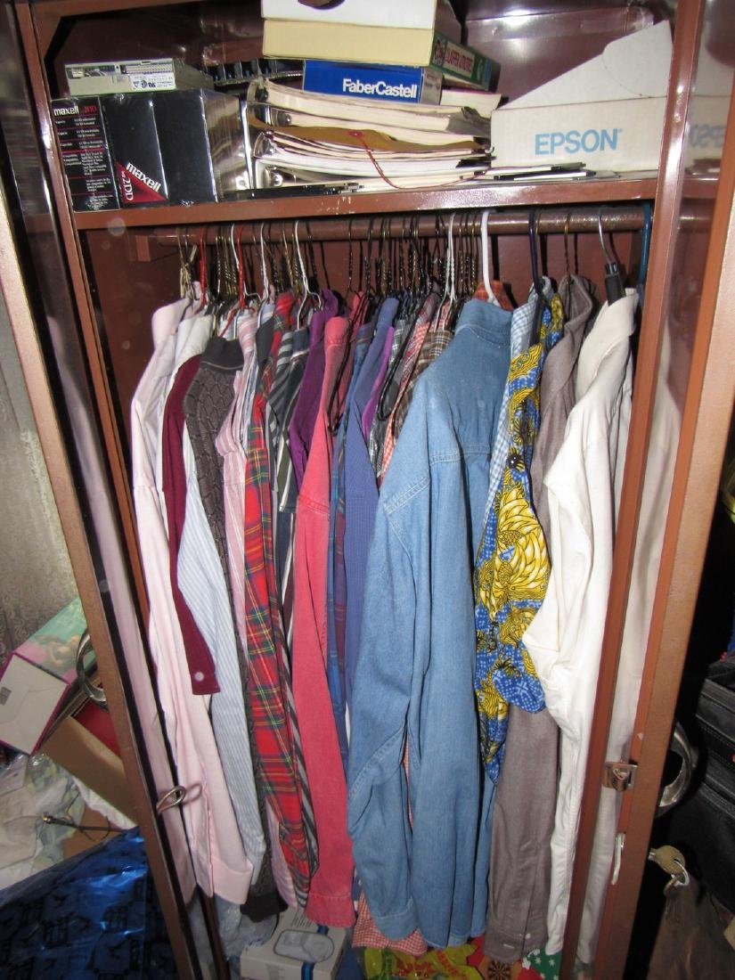 Clothing Closet & Cabinets Contents Lot