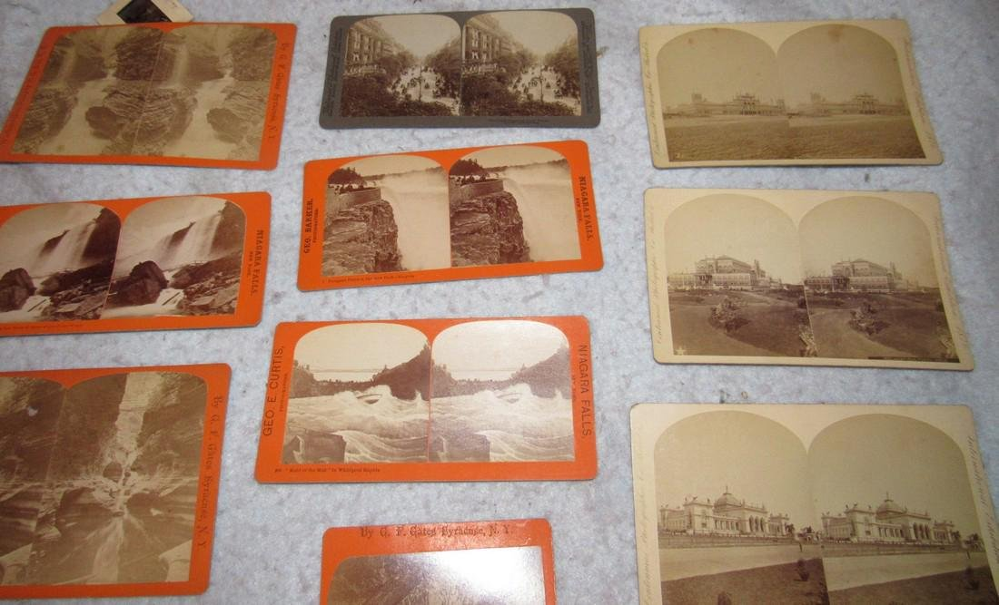 Niagra Falls Watkins Glen NY Stereo View Cards - 2