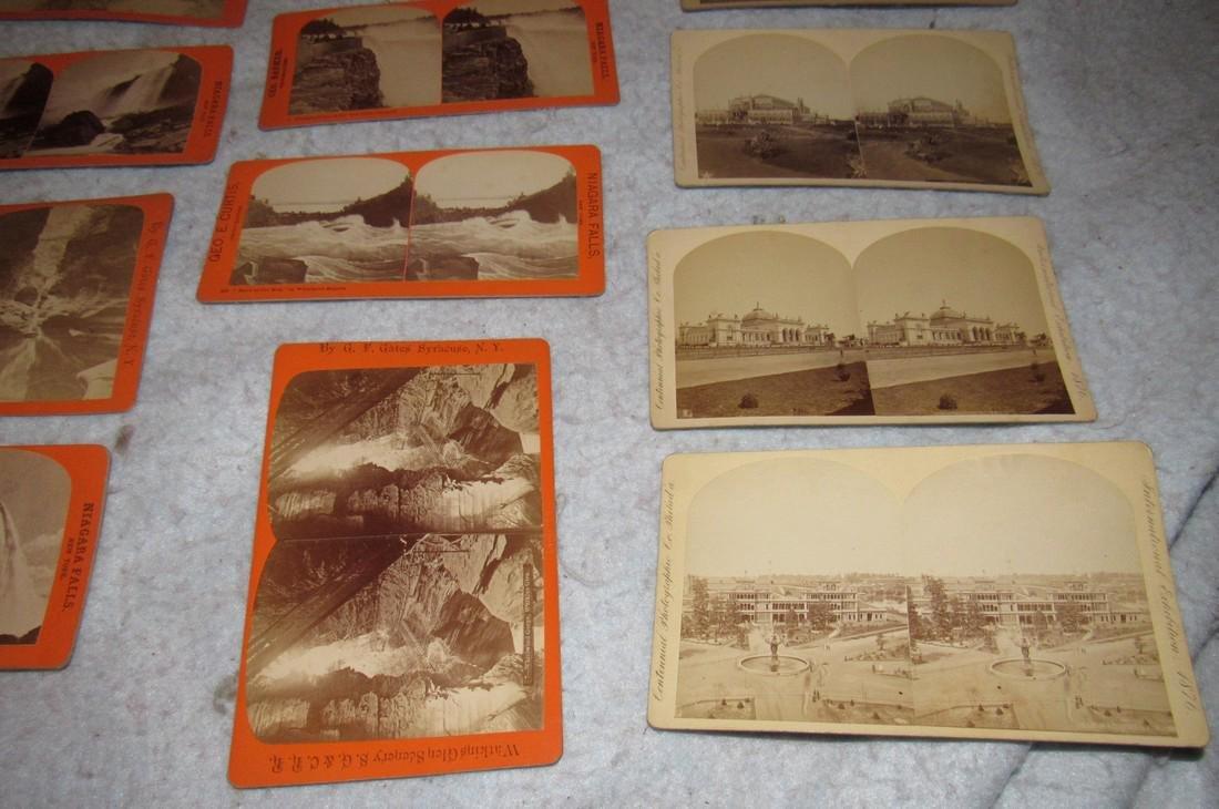 Niagra Falls Watkins Glen NY Stereo View Cards - 3